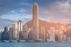 Affaires centrales de Hong Kong du centre Images stock