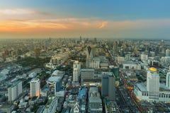 Affaires centrales de ville de Bangkok du centre Image libre de droits