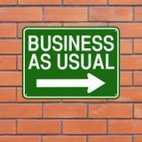 affaires comme d'habitude Photos libres de droits