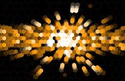 Affaires d'hexagone de point noir et technologie de l'information abstraites Image libre de droits
