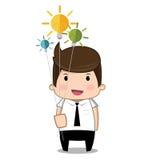 Affaires d'homme d'idée Image stock