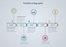 Affaires d'Infographic avec des diagrammes illustration stock