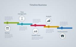 Affaires d'Infographic de chronologie avec des diagrammes illustration libre de droits