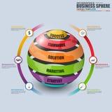 Affaires 3D numériques abstraites lançant Infographic sur le marché Illustration Libre de Droits