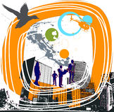 Affaires dans la ville Image libre de droits