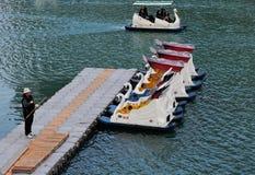 Affaires de bateau de loyer à Taïwan Image libre de droits