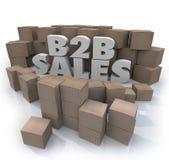 Affaires de boîtes en carton de ventes de B2B vendant des ordres Image libre de droits