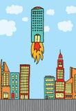 Affaires de décollage/croissantes de construction Illustration Libre de Droits