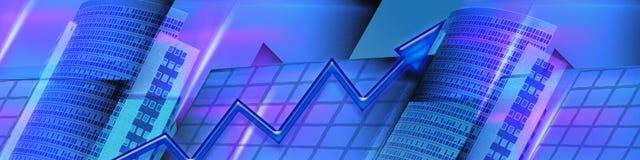 Affaires de drapeau et bilans financiers croissants illustration stock