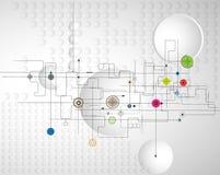 Affaires de fond de technologie et direction abstraites de développement illustration de vecteur