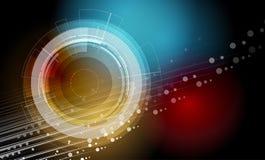 Affaires de fond de technologie et direction abstraites de développement Photographie stock