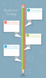 Affaires de nouveau à la chronologie infographic d'école Image stock
