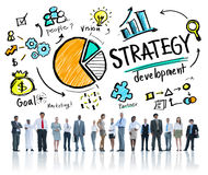 Affaires de planification de vision de vente de but de développement de stratégie Photo stock