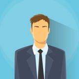Affaires de portrait de Profile Icon Male d'homme d'affaires Images libres de droits
