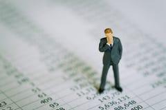 Affaires de profits et pertes, données ou rapport financier Co d'investissement photos stock