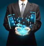 Affaires de technologie de téléphones portables à disposition illustration de vecteur