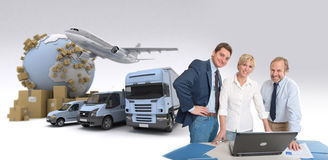 Affaires de transporteur image libre de droits