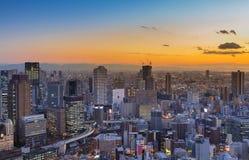 Affaires de ville d'Umeda de vue aérienne du centre Image libre de droits