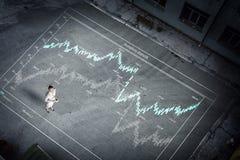 Affaires de visionnement à partir de dessus photo libre de droits