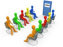 Affaires - demande d'emploi illustration de vecteur