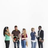 Affaires différentes de vinyle d'écouteurs de personnes de mode de vie Photographie stock