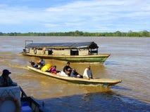 Affaires et commerce sur la rivière Amazone Photos libres de droits