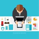 Affaires et conception conceptuelle de vecteur de bureau Photographie stock libre de droits