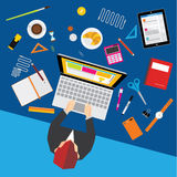 Affaires et conception de vecteur de bureau Image libre de droits