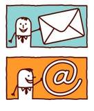 Affaires et courrier illustration de vecteur