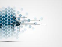 Affaires et développement abstraits de fond de technologie