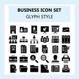 Affaires 30 et ensemble d'icône de bureau, utilisant le style de solide ou de Glyph illustration libre de droits