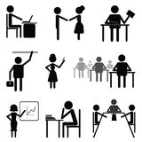 Affaires et gens de bureau. illustration stock