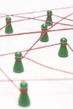 Affaires et gestion de réseau sociale - image conceptuelle Photos stock