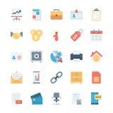 Affaires et icônes 1 de vecteur colorées par bureau Image stock