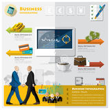 Affaires et Infographic financier Images stock