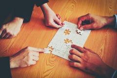 Affaires et réunions et unité de travail Pour travailler effectivement le teamwo Image libre de droits