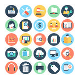 Affaires et SEO Vector Icons 4 illustration stock