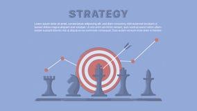 Affaires et stratégie marketing Image stock