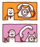 Affaires et téléphone Photo libre de droits