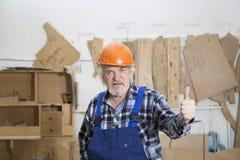 Affaires faites main à la petite usine de meubles Photos stock
