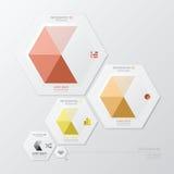 Affaires géométriques Infographic de forme d'hexagone Photographie stock