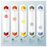 Affaires géométriques Infographic de forme d'hexagone Image libre de droits