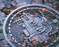 Affaires globales de Cryptocurrency Digital Photos stock