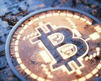 Affaires globales de Cryptocurrency Digital Photo libre de droits