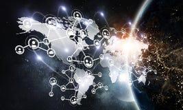 Affaires globales de mise en réseau Image stock