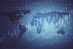 Affaires globales et contexte de stat illustration stock