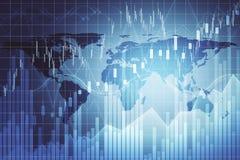 Affaires globales et fond de stat illustration stock