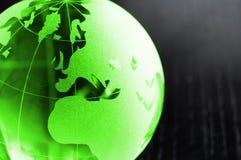 Affaires globales sur le noir Image stock