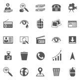 Affaires Gray Icon Set Photos stock