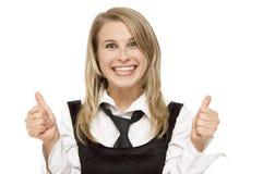 Affaires heureuses Photographie stock libre de droits